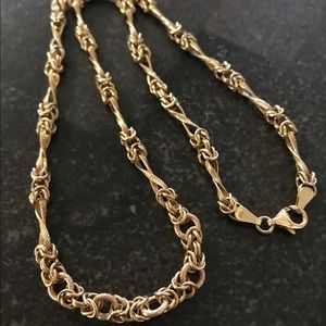 "Jewelry - Unique 14k Gold CUSTOM 18"" BYZANTINE 1/4"" Necklace"